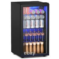 Mini Réfrigérateur De Boisson De 120 Canettes Avec Porte En Verre