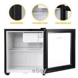 Mini Réfrigérateur Noir 50litres Bière Vin Boisson Réfrigérateur Avec Porte En Verre