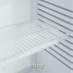 Mini Réfrigérateur Réfrigérateur Boissons Cooler Bar Hôtel Porte En Verre 32 L 1 Étagère Noir