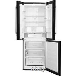 Point Chaud Ffu3d. 1k 70cm 3 Portes Sans Givre Réfrigérateur Congélateur Noir