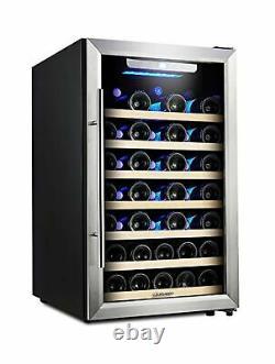 Réfrigérateur De Vin Kalamera 50 Compresseur De Bouteille Porte En Acier Inoxydable Krc52ass
