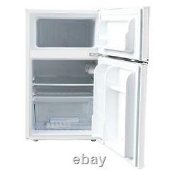 Rétro 3.2 Cu Ft 2 Porte Mini Réfrigérateur Tiroir Crisper Stocker Vos Légumes Fruits