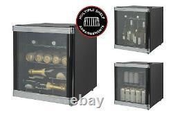 Russell Hobbs Rhgwc1b-c 46l Glass Door Wine Cooler 12 Bottle Capacity In Black