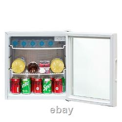 Sia Dc2wh 50l White Table Top Mini Boissons, Bière Et Vin Réfrigérateur Refroidisseur, Porte En Verre