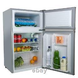 Sia Uff01ss 88l Argent/gris Autoportant Sous Le Comptoir 2 Portes Réfrigérateur Congélateur