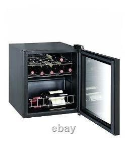 Smad 15 Bottle Wine Cooler Fridge Comptoir Led Écran Tactile 46l Glass Door