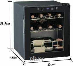 Smad 46l Bière, Vin Et Boissons Mini Compresseur À Froid Led Refroidisseur De Porte En Verre
