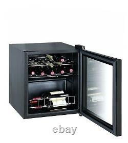Smad Boissons De Vin De Bière Fridge 43l Verre Porte Refroidisseur De Vin 16 Bouteilles Sous-counter