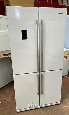 Smeg Fq60b2pe1 Quatre Portes American Style Réfrigérateur Congélateur Blanc