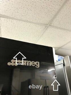 Smeg Fq60n2pe1 Congélateur De Réfrigérateur Autoportant De Style Américain 4 Portes En Noir