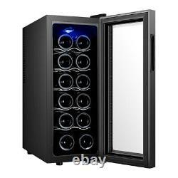 Sous Counter Boissons Réfrigérateur, 12/16 Bouteilles De Bière Et Refroidisseur De Vin Avec Porte En Verre