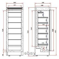 Tefcold Black Ufsg Upright Glass Door Display Shop Freezer@ £1083+vat Next Day
