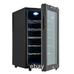 Vinekraft Refroidisseur De Vin 18 Bouteilles Mini Boissons En Vente Libre Réfrigérateur Avec Porte De Classe